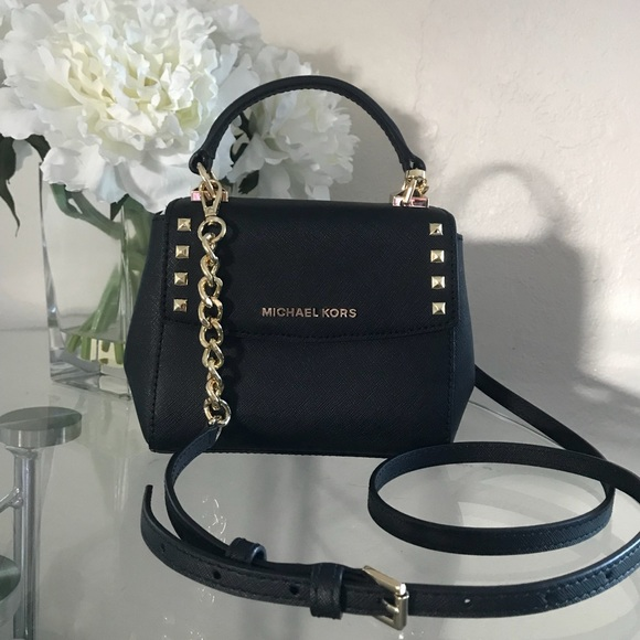 ef924dc3a4cb Michael Kors Bags | Karla Black Mini Crossbody Bag Purse | Poshmark